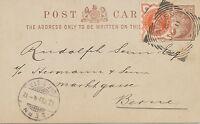 "2455 ""THREADNEEDLE-St.-B.O. / E.C."" (LONDON) very rare Squared Circle Postmark"