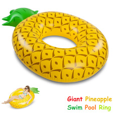 1.8M Giant Pineapple Inflatable Swim Ring Float Swimming Pool Lounge Raft Toy OZ