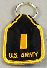 US Army 2nd Lieutenant O-1 Rank Embroidered Keychain