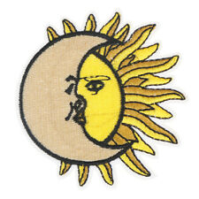 Sun moon Fabric Patch Embroidered Sew on Patches For Clothing DIY Decoration PT