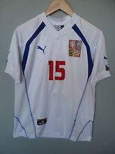 Vtg Czech Republic #15 Baros Puma 2004 Away Football Shirt Trikot Jersey Sz XS