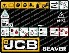 JCB BEAVER HYDRAULIC BREAKER FRONT PANEL DECAL STICKER