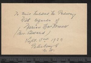 1933 Marian MacDowell wife of Edward MacDowell ALS Autographed Letter Signed