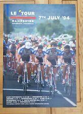 "Very rare 28"" x 20"" Tour De France 1994 (UK - Portsmouth) poster and memorabilia"