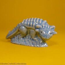 Wade Whimsies (1993/Set #1) Dinosaurs Series - Blue (Variation) Euoplocephalus