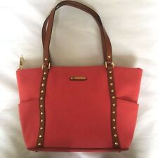 MICHAEL KORS Cloth Tote with Leather handles (Fuschia color)