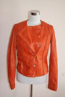 Hugo Boss Orange Lederjacke Jacke Jisera Leder Lammleder Leather Jacket Womens