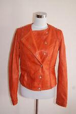 Hugo Boss Orange Lederjacke Jacke Jisera Leder Lammleder Leather Jacket Womens