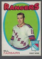 1971-72 O-Pee-Chee New York Rangers Hockey Card #215 Bill Fairbairn RC