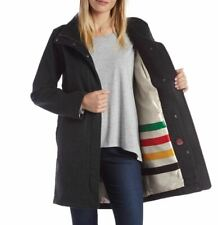 Pendleton Womens Water Resistant Cascade Wool Campbell Coat Jacket Charcoal -XL