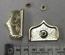 Metallspitzen,Gürtelspitzen, Farbe gold, 2 Stück, #1880#