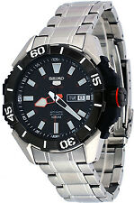 Seiko 5 Sports Srp795 Men's Stainless Steel Black Dial 100M Automatic Watch