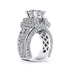 GO BIG!  Massive 30 gram 3 Carat Diamond PLATINUM 950 Semi Mount Engagement Ring