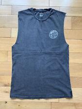 Billabong Chaleco Top Sin Mangas Camiseta Pequeña Para Hombres Gris Oscuro