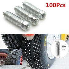 100X Car Motorcycle Tires Screw Snow Spikes Wheel Tyres Snow Chains Studs 25*6mm