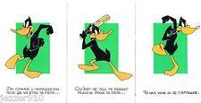 LOT 3 CPs NON ECRITE - DAFFY DUCK / WARNER BROS - 1994 CARTE POSTALE CP