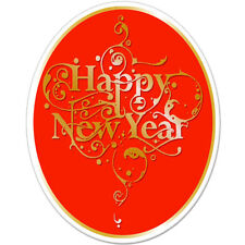 """Happy New Year car bumper sticker decal 5"""" x 4"""""""