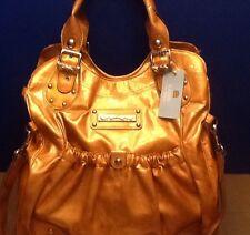 Kathy Van Zeeland handbag Mustard Creased Lightning Tote