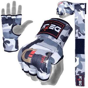 DEFY Gel Padded Ladies Inner Gloves with Hand Wraps MMA Muay Thai White Camo