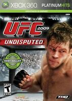 UFC 2009 Undisputed (Microsoft Xbox 360, 2009) Complete with Manual