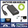 MHL HDMI Android MicroUSB 1080P HDTV VISUALIZZA IL TUO TELEFONO IN TV 🇮🇹