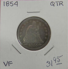 1854 Liberty Seated Quarter-VERY FINE