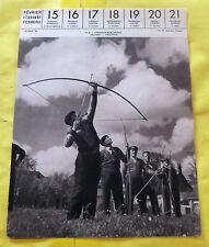 1959 STEENWOORDE NORD Image Poster Archer .art print régionalisme