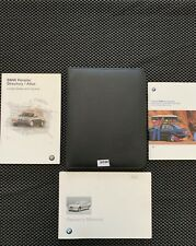 BMW Owner's Manual Book Case Owners Guide Black Leather OEM