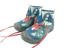 MERRELL Capra Mid Dry Hiking Boots Leather Waterproof Youth Size 2 Outdoor Teal