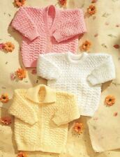Knitting Pattern Baby/Child's DK Cardigans and Sweater  41-61 cm   (44)