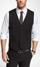 NEW NWT  MEN'S EXPRESS $79 BLACK STRETCH  SUIT VEST SZ  L Large