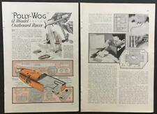 """Steam Powered Model Outboard Engine and 23"""" Hydroplane 1933 HowTo build PLANS"""