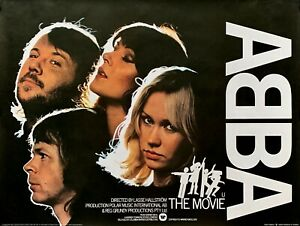 """ABBA THE MOVIE repro UK Quad Poster 30x40"""" rare Music poster FREE P&P Voyage"""