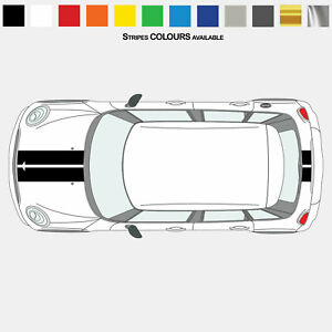 For MINI Cooper F55 Twin Stripes Hood Bonnet Trunk Kit Set VINYL STICKERS DECAL