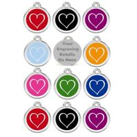Dog Tags Heart Tribal 25mm Personalised Engraved Name Dog Cat Pet ID Discs Disk