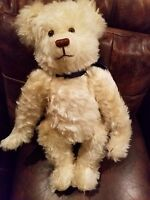 "Barret, Pine Forest by Sharon July White MohairFull jointed 22"" #13 Growler Bear"