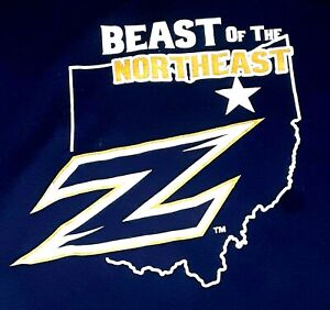 Akron Zips Beat Kent T-Shirt.   Size XL. University,  Blue, Ohio, MAC