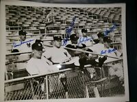 Signed 1952 Yankees 8x10 photo Auto, Autograph - Blackwell, Sain, Gorman, Miller