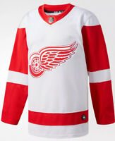 Detroit Red Wings Adidas Authentic NHL Hockey Jersey (Size 52) (White/Red)