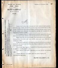"""HONFLEUR (14) SCIERIE PARQUETERIE / Fabrique de PARQUET """"ULLERN & Cie"""" en 1909"""