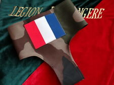 Légion Étrangère (Fr)-FOULARD MILITAIRE AVEC INSIGNE DE LA FRANCE (ÉCUSSON OPEX)