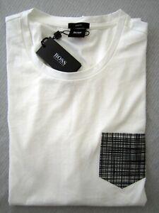 HUGO BOSS  Tessler 03 men's t-shirt fake pocket slim fit White size XL