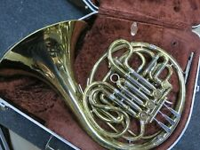 Used Olds Double French Horn, Lacquer w/case -Just Serviced ready to play! #RO04