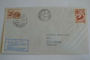 Greenland Sarqaq Denmark Engelsk Exp. 1971 Kap Dan Transported by members signed
