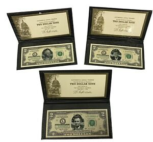 World Reserve Monetary Exchange 2003 A Set Of Three Two Dollar Notes