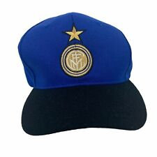 Vintage 90s Inter Milan Umbro Snapback Hat Embroidered Blue Cap One Size Adult