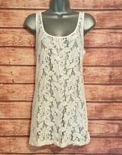 NEXT Size 10 WHITE Lace Vest Top Summer Holiday VGC Women's Ladies Casual