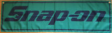 Snap-On Flag Garage Automotive Snap On Tools Mechanic Green Banner 58X17 In