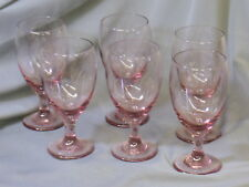 "Amethyst colored Glass Goblets - Set of 6 - mint - 7"" tall"