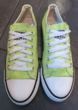 Converse All Stars LIME CANVAS Lace-up LOW Tops Size UK 4.5 EXCELLENT CONDITION